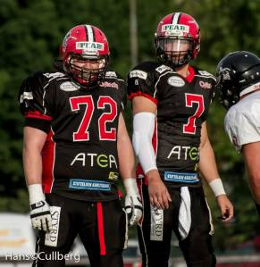 #72 Daniel Holmgren & #7 Anders Hermodsson, Carlstad Crusaders